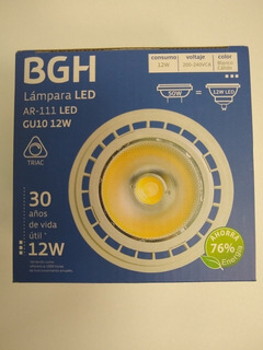 Lampara Led Ar111 12w Dimerizable 220v Gu10 Calida Bgh