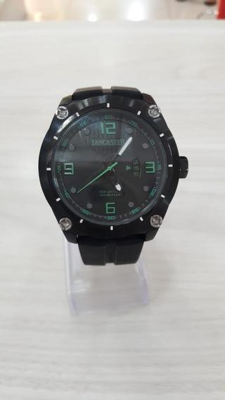 Relógio Lancaster Pulseira Borracha Aço Inoxidável Original
