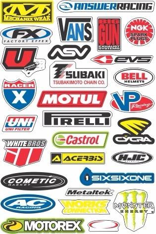 Cartela Adesivo Logo Marca Vários Modelos Gp Rossi Valentino