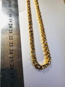 Cadena Tipo Oro Con Diamantes Collar Cubana Hypebeast