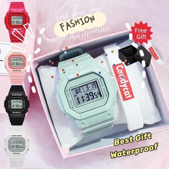 Relógio Digital Unisex,acompanha Caixa E Pulseira.