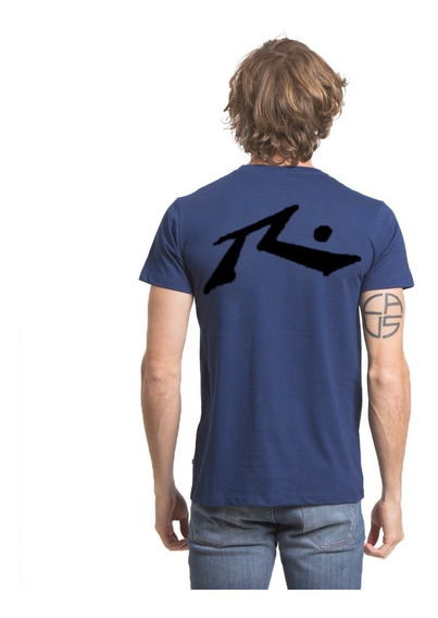 Remera Hombre Rusty Competition Azul