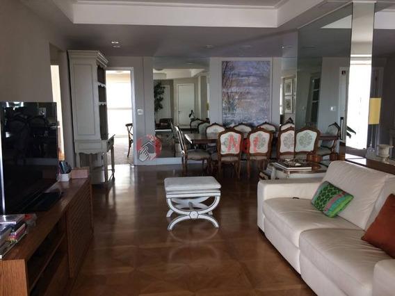Lindo Apartamento Todo Mobiliado No Centro De São Bernardo, Com 4 Suítes, 278 M2 , 4 Vagas. - 4992