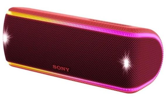 Caixa De Som Portátil Sony Srs-xb31 Vermelha Nova Nota Fiscal Garantia