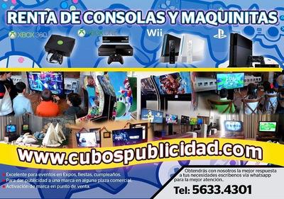Renta De Xbox,consolas,video Juegos,ps4,xbox One,wiiu,fiesta