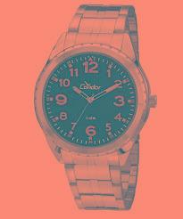 Relógio Condor Masculino Metal Fundo Azul 33759