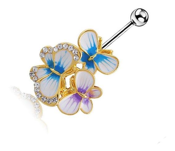 Piercing Para El Ombligo, Diseño De Mariposa, Para El Omblig
