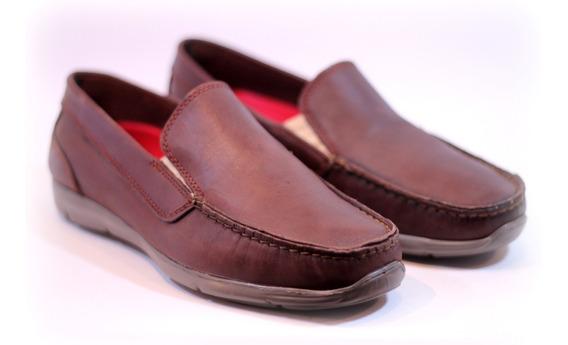 Zapatos Pizzoni 7335 Mocasines Nauticos De Cuero