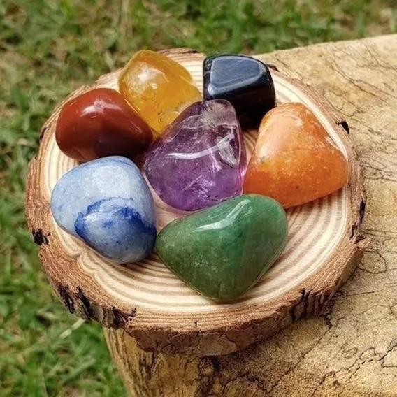 Kit Com Pedras Naturais 7 Chakras - Proteção E Equilíbrio