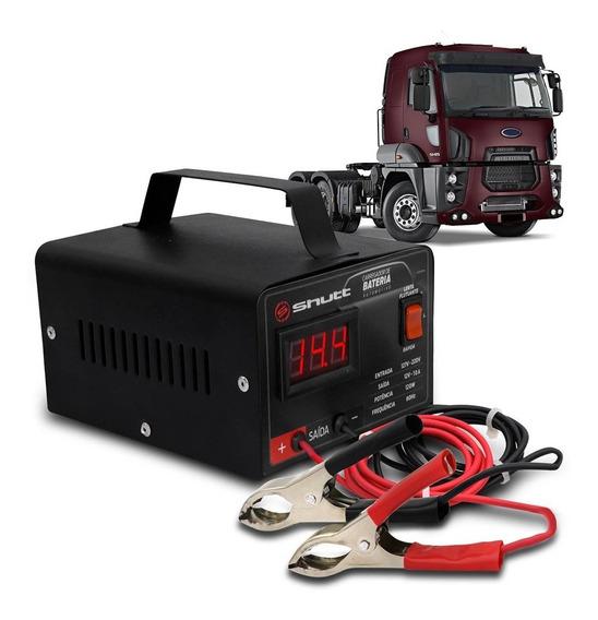 Carregador Bateria Automotivo Caminhão Shutt 10a 12v Bivolt