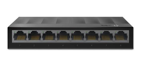 Switch Hub 8 Portas Tp-link Ls1008g Gigabit 10/100/1000mbps