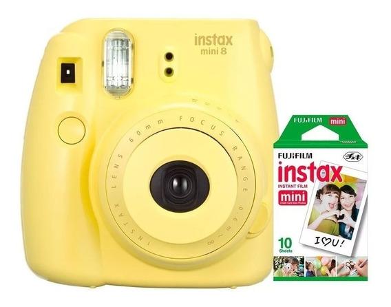 Câmera Instantânea Instax Mini 9 Fujifilm Amarela+ 20 Filmes
