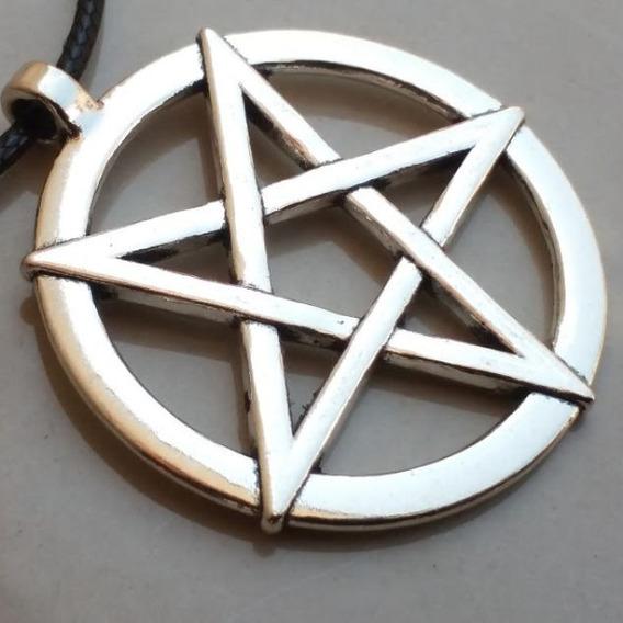 Cordão Pentagrama Invertido Baphomet Lucifer Satan Leviathan