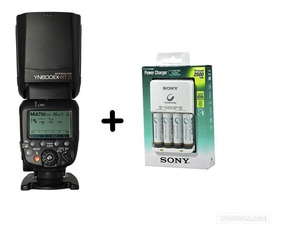 Flash Yongnuo Yn 600 Ex Rt Il + Carregador Sony C/ 4 Pilhas