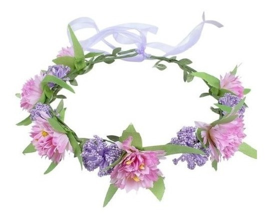 Corona De Flores Para Niñas Accesorio Cabello