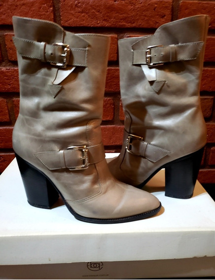 Botas Blaqué Talle 39 Color Camel Impecables