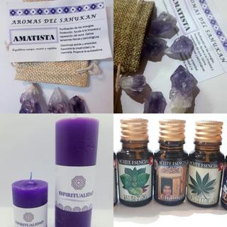Kit Proteccion Amatista + Vela Intencion Espiritualidad