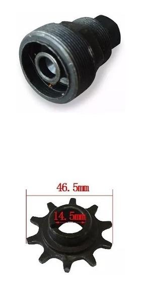 Pinhão-10 Dentes+saca Pinhão Bike Motorizada-80cc-49-48-66cc