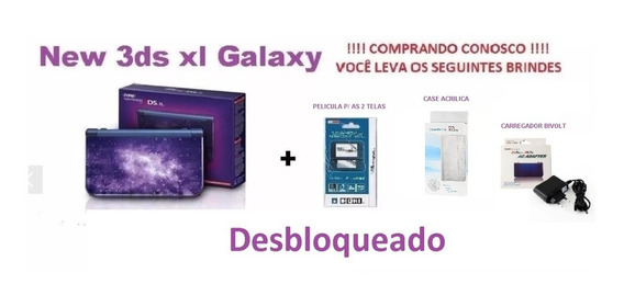 New 3ds Xl Galaxy. Desbloqueado 32gb +brindes