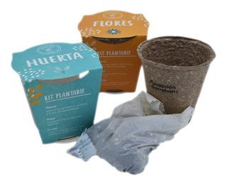 Combo Eco Kit De Siembra Flores Y Huerta Fundación Garrahan