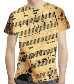 Camisa Musica Camiseta Nota Musical - Estampa Total 04
