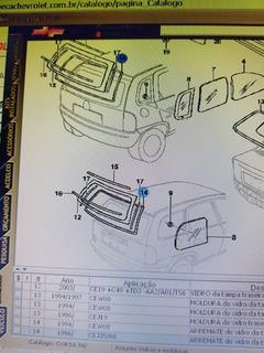 Arremate Do Vidro Traz Corsa Wagon E Wind 96/pc Gm 90386761