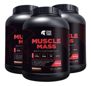 Combo 3x Muscle Mass Hipercalórico Espartanos - Total 9kg
