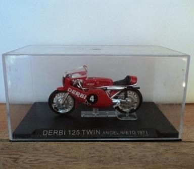 Moto De Corrida Miniatura Derbi 125 Twin Angel Nieto 1971