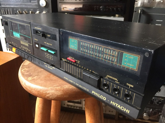 Tape Deck Vintage Philco Pcd-61 Peak Leds