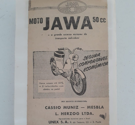 Propaganda Antiga Moto Jawa 50 Cc Raro Anúncio Publicidade