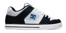 Zapatillas Dc Pure Cuero Negras Original Skate Hombre