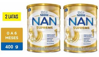 Fórmula Infantil Nan Supreme 1 De 400g Kit Com 2 Latas