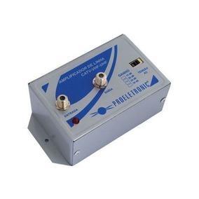 Amplificador Tv Digita L30db Pqal 3000 Proeletronic Vhf Uhf