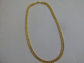 Corrente Banhada Á Ouro Masculina 18 K