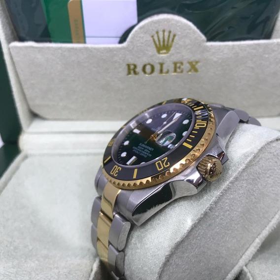 Relógio Mod Submariner Dourado C/ A Caixa Da Marca