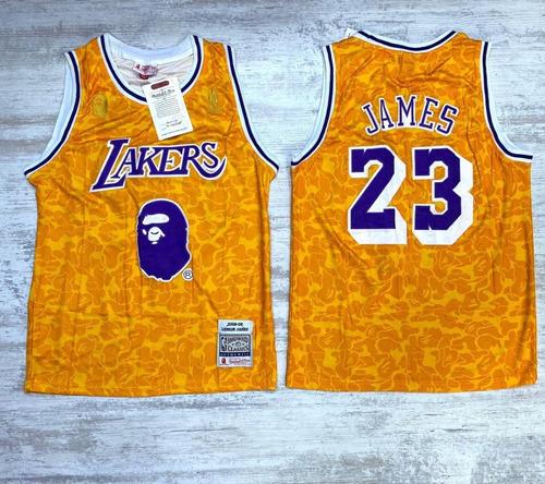 Camiseta Jersey Baloncesto Lakers James 23 Log Bordado +envi