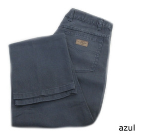 Calça Sarja Brim Tipo Cotele Masculina Div. Cores [48 A 56]