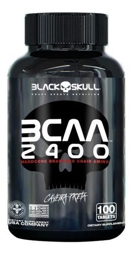 Imagem 1 de 2 de Bcaa 2400 100 Tabletes - Black Skull 2:1:1