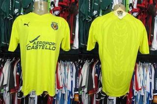 Villarreal 2010 Camisa Titular Tamanho G.