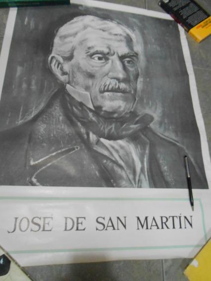 Póster Afiche Conmemorativo Grl Don José De San Martín