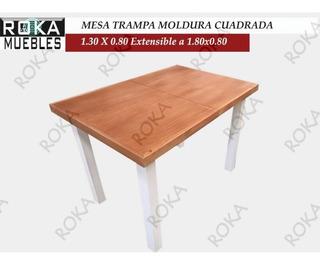 Mesa Extensible Trampa D 1.30x0.80 A 1.80x0.80 Patinado Roka