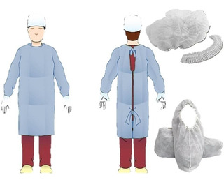 Kit Sanitario Camisolin Cofia Cubrebota Pack X 10 Maranello