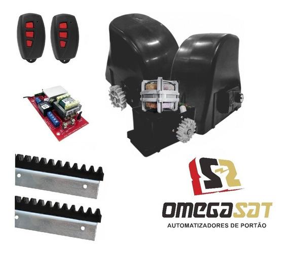 Kit Portão Deslizante 1/4 Cv Omegasat Nice 3m Cremalheira