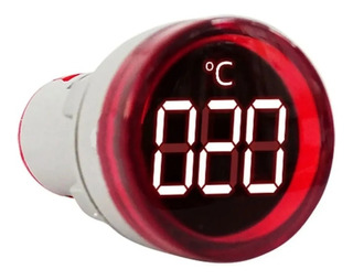 Medidor Temperatura Ojo Buey Tablero -20 A 199 Grados