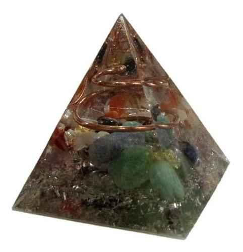 Orgonite Pirâmide P 4cm Cores Sortidas