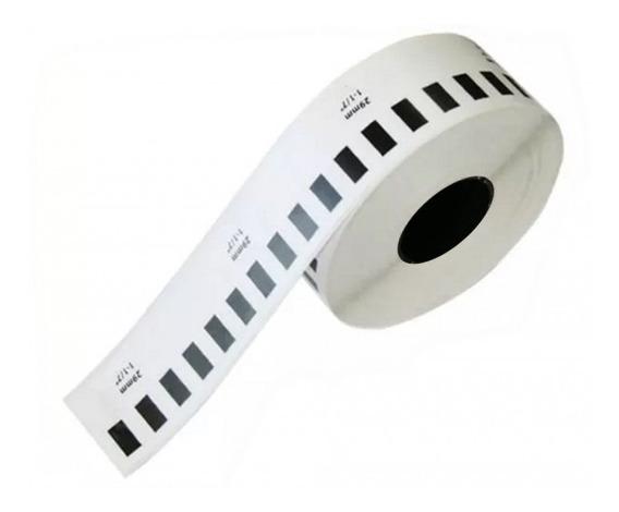 Etiqueta Plástica Continua Texto Negro 29mmx15.2mm /v /v