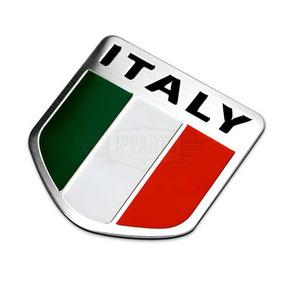Emblema Bandeira Italia Italy Adesivo Aluminio Tuning