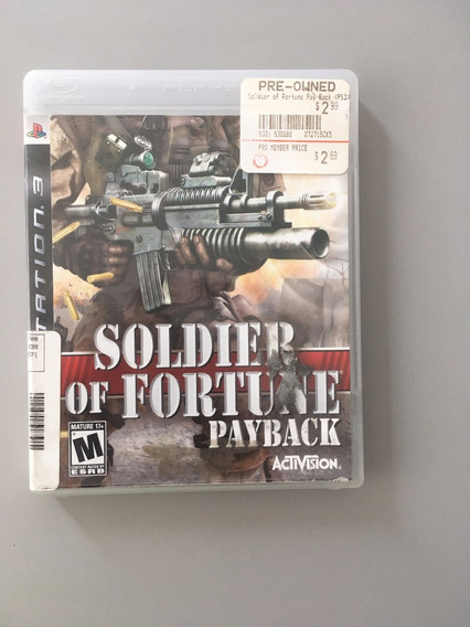 Soldier Of Fortune Payback Para Ps3 Playstation 3 Original