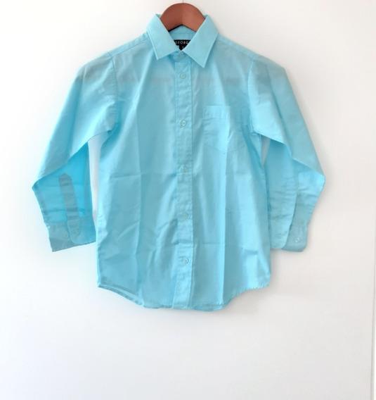 Camisa Niño Azul Talla 8 Ropa Americana Infantil Bebe Junior