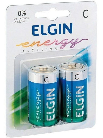 20 Pilhas Alcalinas Media-c Elgin